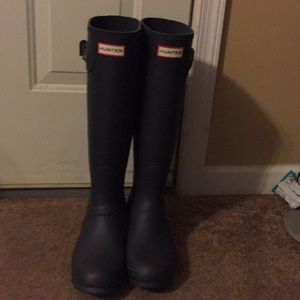 Dark grey original tall Hunter boots